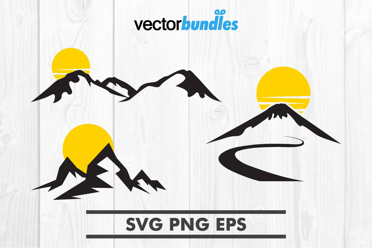 Download Free Mountain Sun Clip Art Svg Graphic By Vectorbundles Creative for Cricut Explore, Silhouette and other cutting machines.