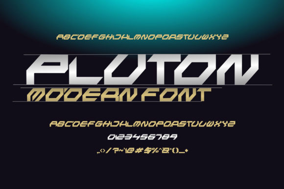 Print on Demand: Pluton Display Font By fadhil figuree - Image 2