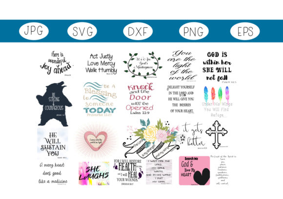 Download Free The Scripture Collection Graphic By Capeairforce Creative Fabrica for Cricut Explore, Silhouette and other cutting machines.