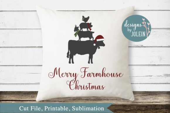Download Free Merry Farmhouse Christmas Graphic By Designs By Jolein SVG Cut Files