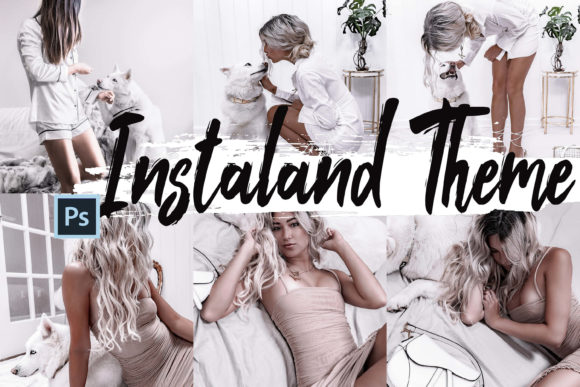 5 Instaland Photoshop Actions ACR Preset Graphic By 3Motional