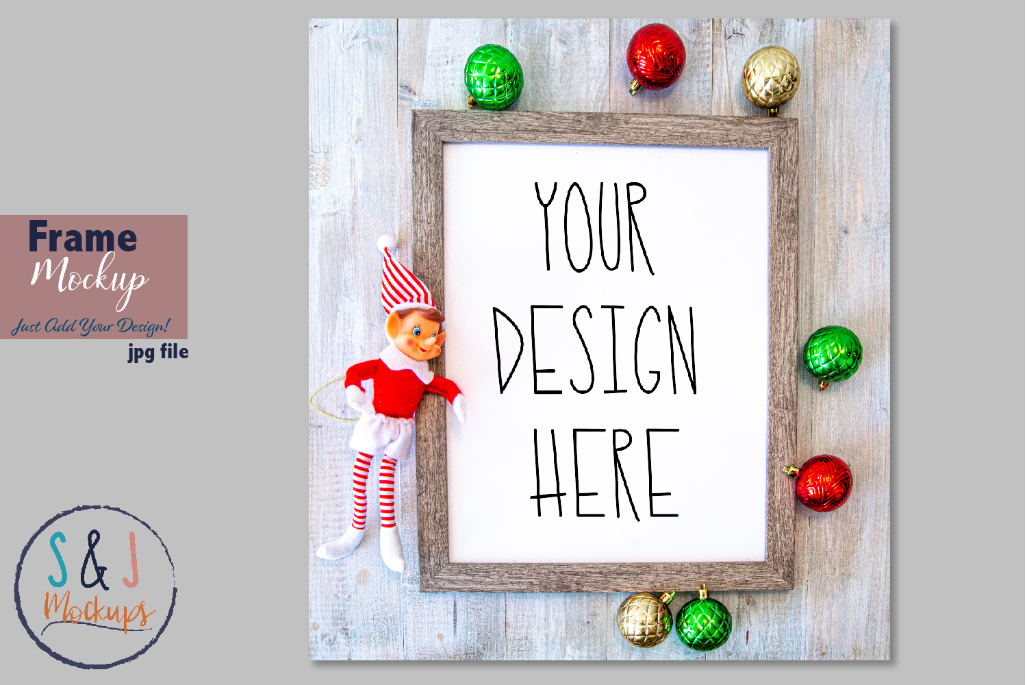 Download Free Christmas Frame Mockup Graphic By Sandjmockups Creative Fabrica for Cricut Explore, Silhouette and other cutting machines.
