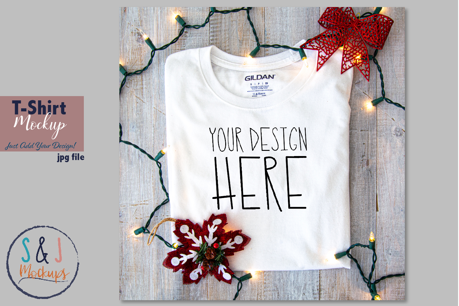 Download Free Christmas Shirt Mockup Graphic By Sandjmockups Creative Fabrica for Cricut Explore, Silhouette and other cutting machines.