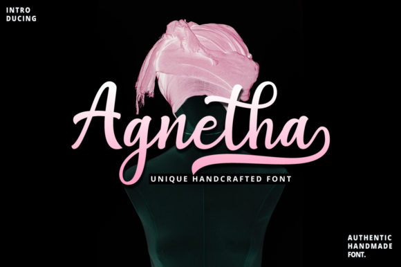 Print on Demand: Agnetha Script & Handwritten Font By Uloel Design