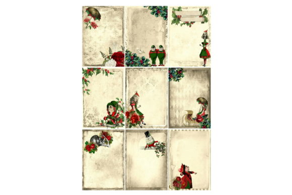Print on Demand: Christmas Alice in Wonderland Collage Graphic Illustrations By Scrapbook Attic Studio - Image 1