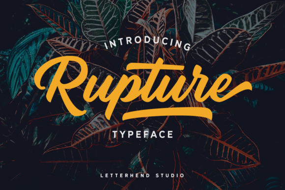 Print on Demand: Rupture Duo Script & Handwritten Font By letterhend