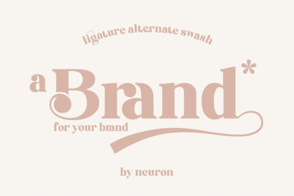 Print on Demand: Brand Display Font By neurontype