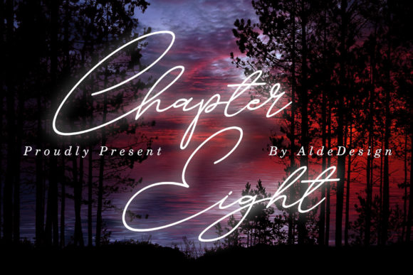 Print on Demand: Chapter Eight Script & Handwritten Font By aldedesign