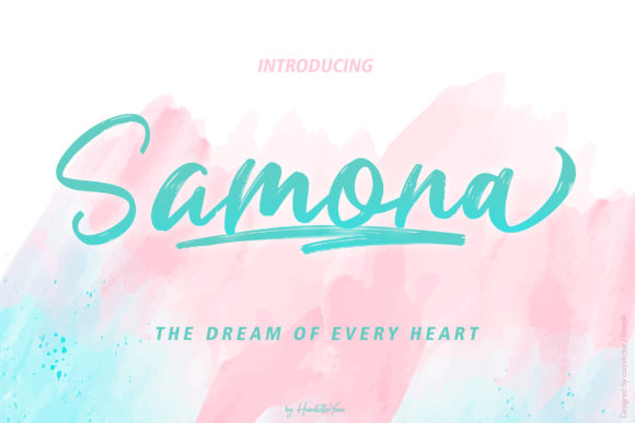Print on Demand: Samona Script & Handwritten Font By yean.aguste