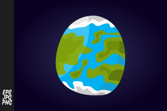 Egg Planet Vector Graphic By Arsa Adjie