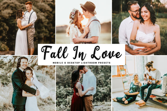 Fall in Love Lightroom Presets Pack Graphic Actions & Presets By Creative Tacos