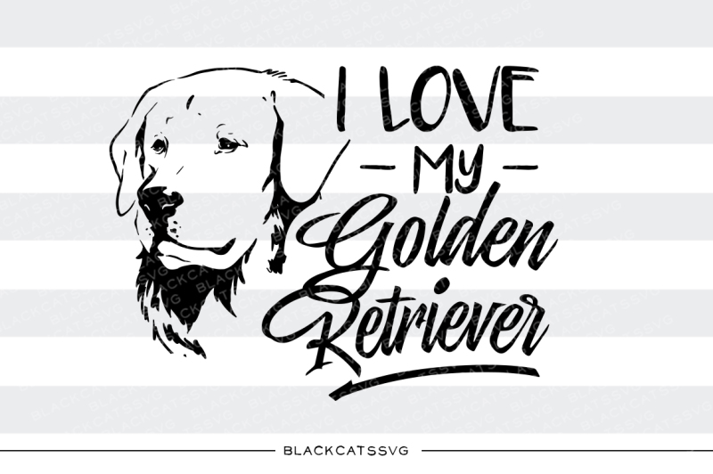 Download Free I Love My Golden Retriever Svg Graphic By Blackcatsmedia for Cricut Explore, Silhouette and other cutting machines.