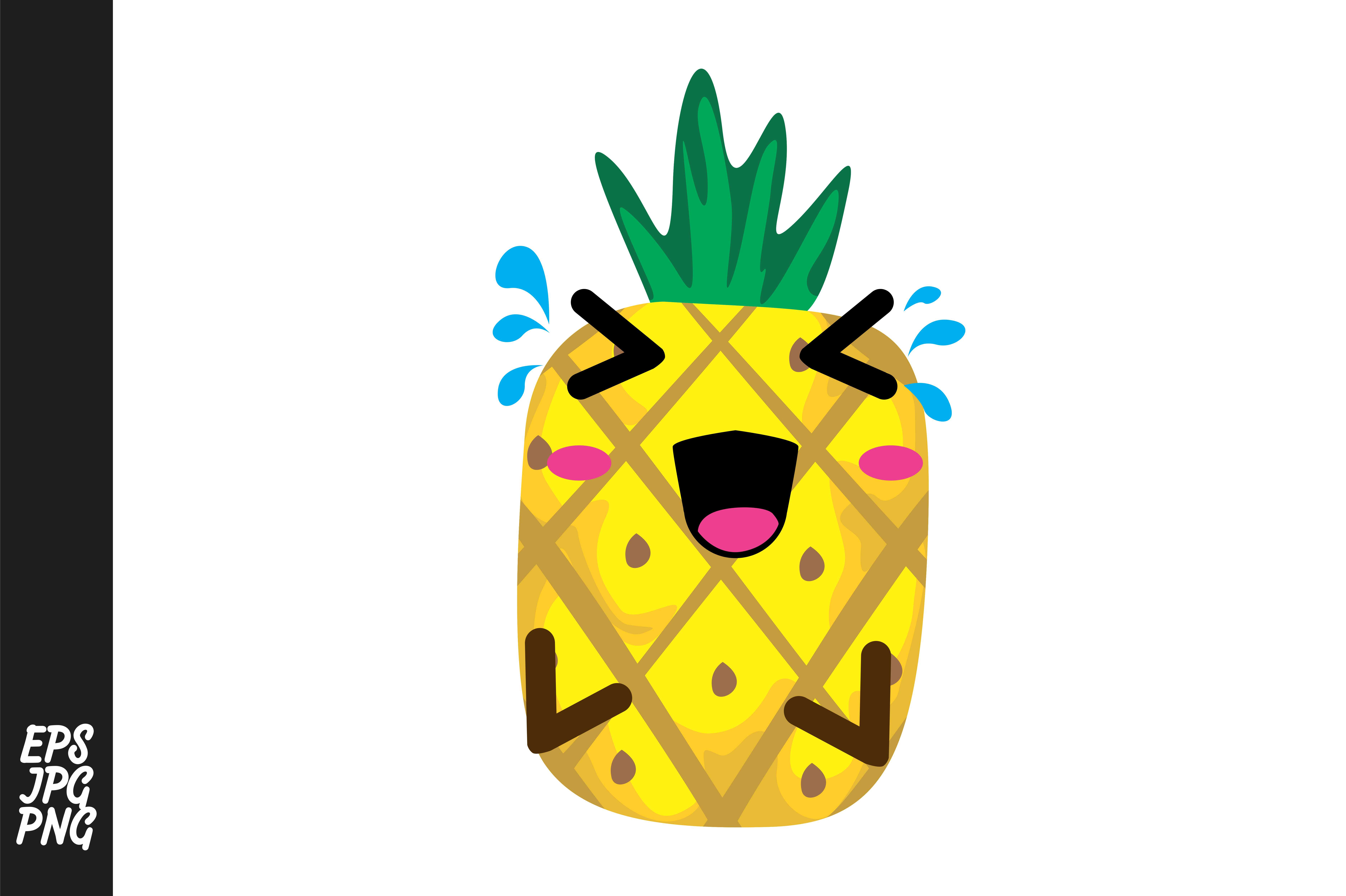 Download Free Cute Pineapple Cartoon Vector Graphic By Arief Sapta Adjie Ii for Cricut Explore, Silhouette and other cutting machines.