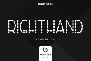 Print on Demand: RightHand Bold Dash Display Font By ibeydesign
