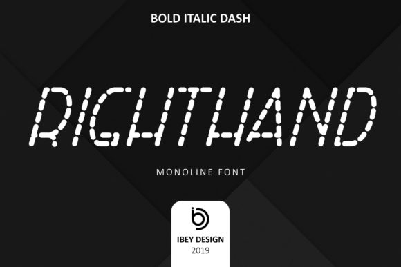 Print on Demand: Right Hand Bold Italic Dash Display Font By ibeydesign