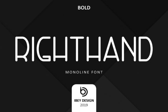 Print on Demand: Right Hand Bold Display Font By ibeydesign - Image 1
