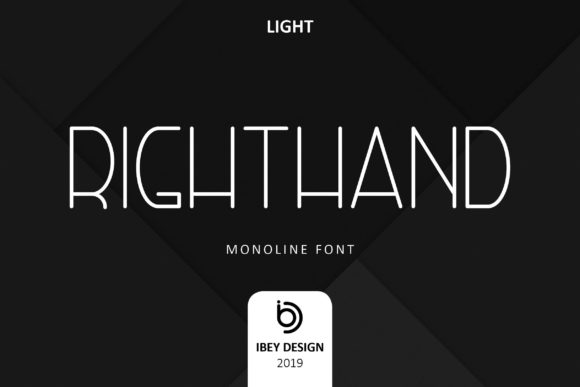 Right Hand Light Display Font By ibeydesign