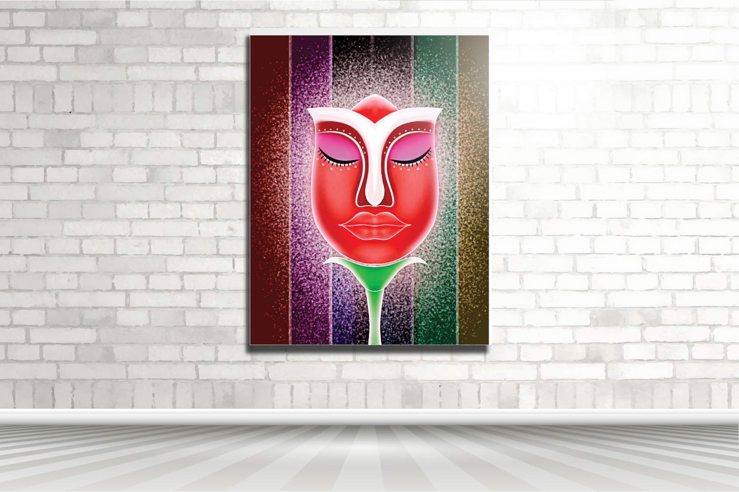 The Face Flower Graphic By Kudocreative Creative Fabrica