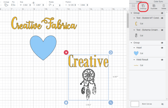 Download Free How To Group Text And Objects In Cricut Design Space Creative for Cricut Explore, Silhouette and other cutting machines.