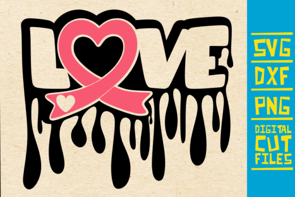 Download Free Love Breast Cancer Pink Ribbon Graphic By Svgyeahyouknowme for Cricut Explore, Silhouette and other cutting machines.