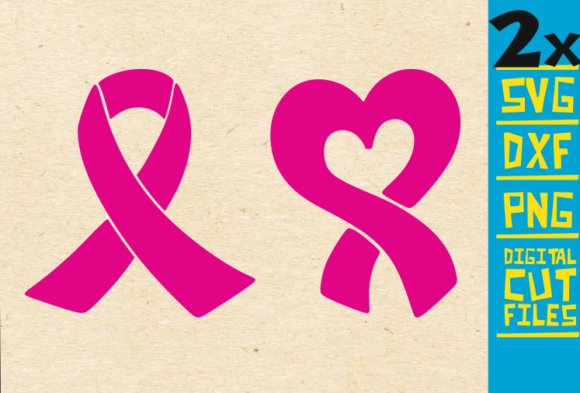 Download Free 2x Pink Ribbon Svg Breast Cancer Fight Graphic By for Cricut Explore, Silhouette and other cutting machines.