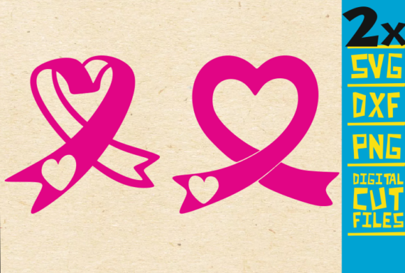 2x Pink Ribbon Svg, Breast Cancer, Fight Graphic Crafts By svgyeahyouknowme