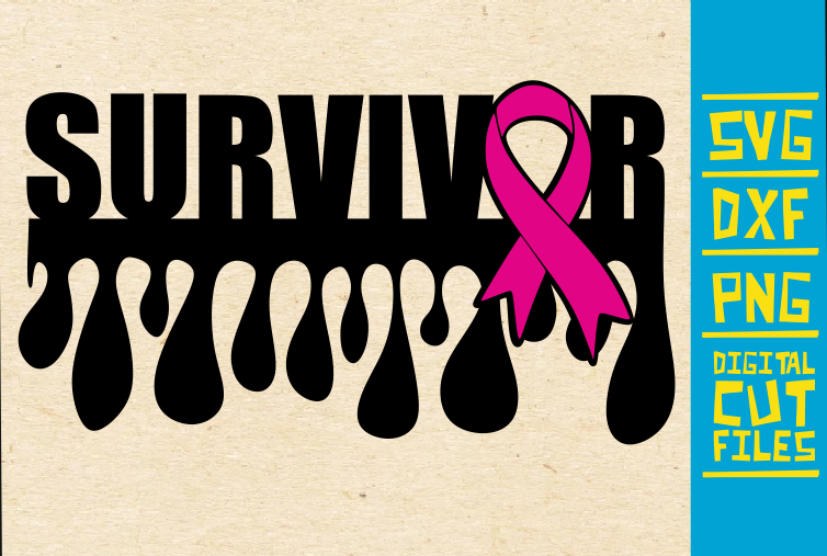 Download Free Survivor Breast Cancer Pink Ribbon Graphic By Svgyeahyouknowme for Cricut Explore, Silhouette and other cutting machines.