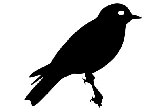 Download Free Bluebird Silhouette Graphic By Idrawsilhouettes Creative Fabrica for Cricut Explore, Silhouette and other cutting machines.