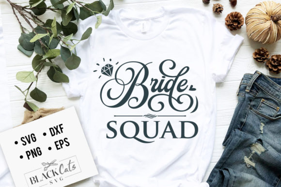 Bride Squad SVG Gráfico Crafts Por BlackCatsMedia