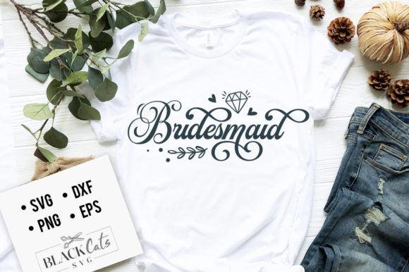 Bridesmaid SVG Graphic Crafts By BlackCatsMedia