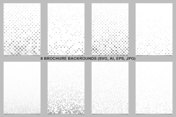 8 Grey Brochure Backrounds Graphic Print Templates By davidzydd