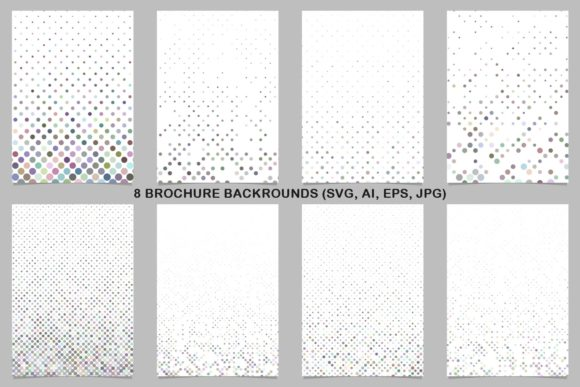 8 Colorful Brochure Backrounds Graphic Print Templates By davidzydd
