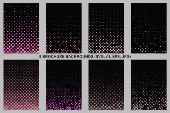 8 Pink Brochure Backrounds Graphic Print Templates By davidzydd