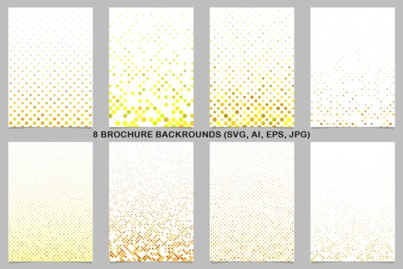8 Yellow Brochure Backrounds Graphic Print Templates By davidzydd