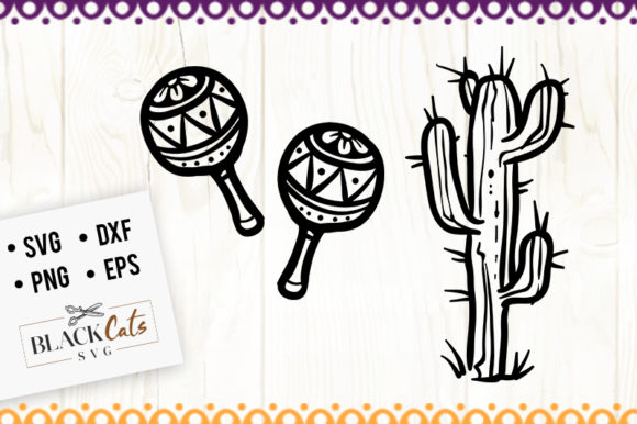 Download Free Cactus And Maracas Svg Graphic By Blackcatsmedia Creative Fabrica for Cricut Explore, Silhouette and other cutting machines.