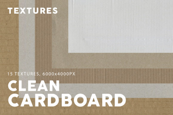 Print on Demand: 15 Clean Cardboard Textures Graphic Textures By ArtistMef