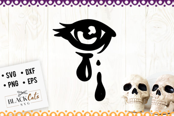 Download Free Crying Eye Graphic By Blackcatsmedia Creative Fabrica for Cricut Explore, Silhouette and other cutting machines.