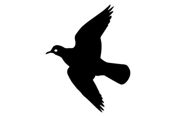 Download Free Dove Bird Silhouette Graphic By Idrawsilhouettes Creative Fabrica for Cricut Explore, Silhouette and other cutting machines.