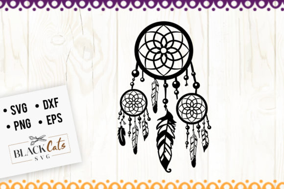 Download Free Dreamcatcher Graphic By Blackcatsmedia Creative Fabrica for Cricut Explore, Silhouette and other cutting machines.