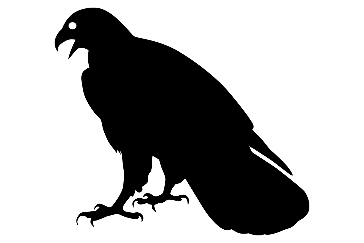 Download Free Eagle Bird Silhouette Graphic By Idrawsilhouettes Creative Fabrica for Cricut Explore, Silhouette and other cutting machines.