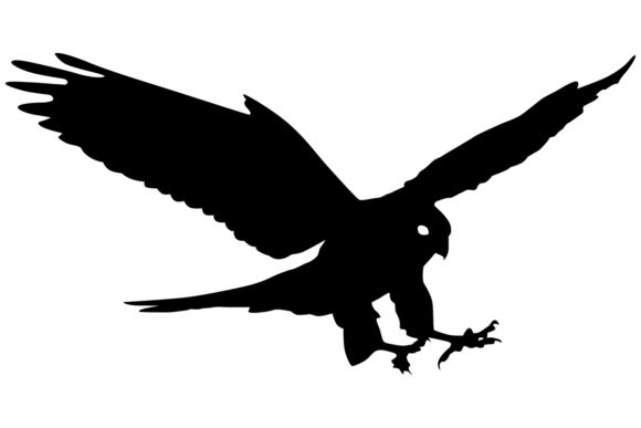 Download Free Falcon Bird Silhouette Graphic By Idrawsilhouettes Creative for Cricut Explore, Silhouette and other cutting machines.