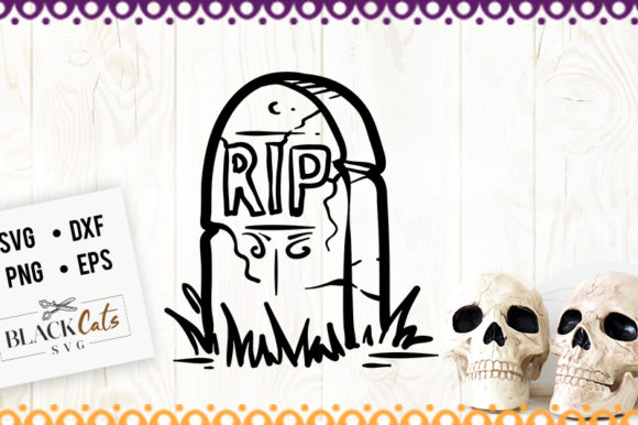 Tombstone SVG Gráfico Crafts Por BlackCatsMedia