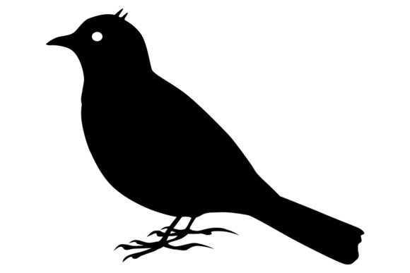 Download Free Horned Lark Bird Silhouette Graphic By Idrawsilhouettes for Cricut Explore, Silhouette and other cutting machines.