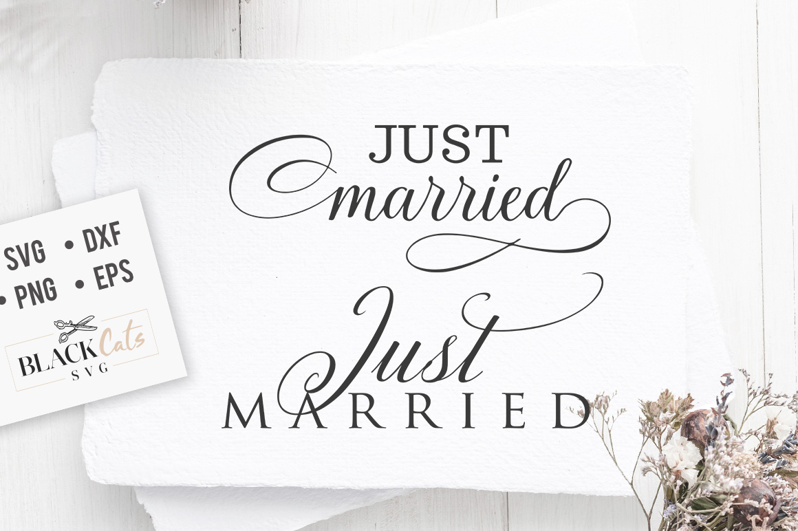 Download Free Just Married Svg Grafico Por Blackcatsmedia Creative Fabrica for Cricut Explore, Silhouette and other cutting machines.