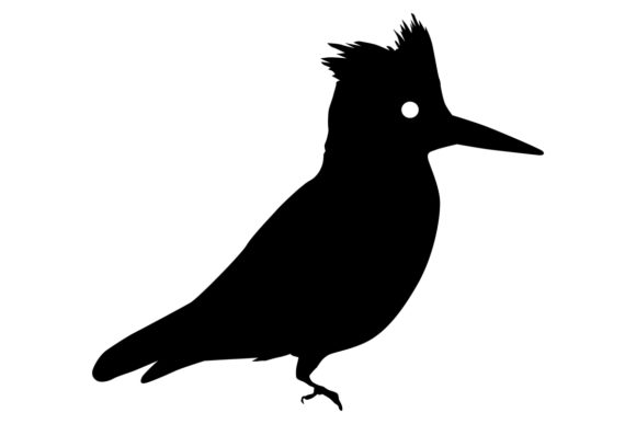 Download Free Kingfisher Bird Silhouette Graphic By Idrawsilhouettes for Cricut Explore, Silhouette and other cutting machines.