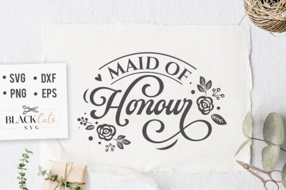 Maid of Honor SVG Graphic By sssilent_rage