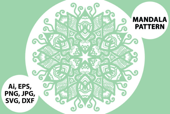 Download Free Mandala Vector Art Pattern Graphic By Redsugardesign Creative for Cricut Explore, Silhouette and other cutting machines.