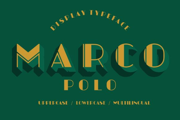 Print on Demand: Marcopolo Display Font By neurontype