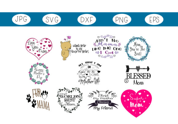 Print on Demand: Celebrate Mom Collection Graphic Illustrations By CapeAirForce