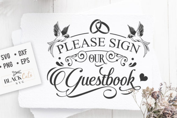 Download Free Please Sign Our Guestbook Svg Graphic By Blackcatsmedia for Cricut Explore, Silhouette and other cutting machines.